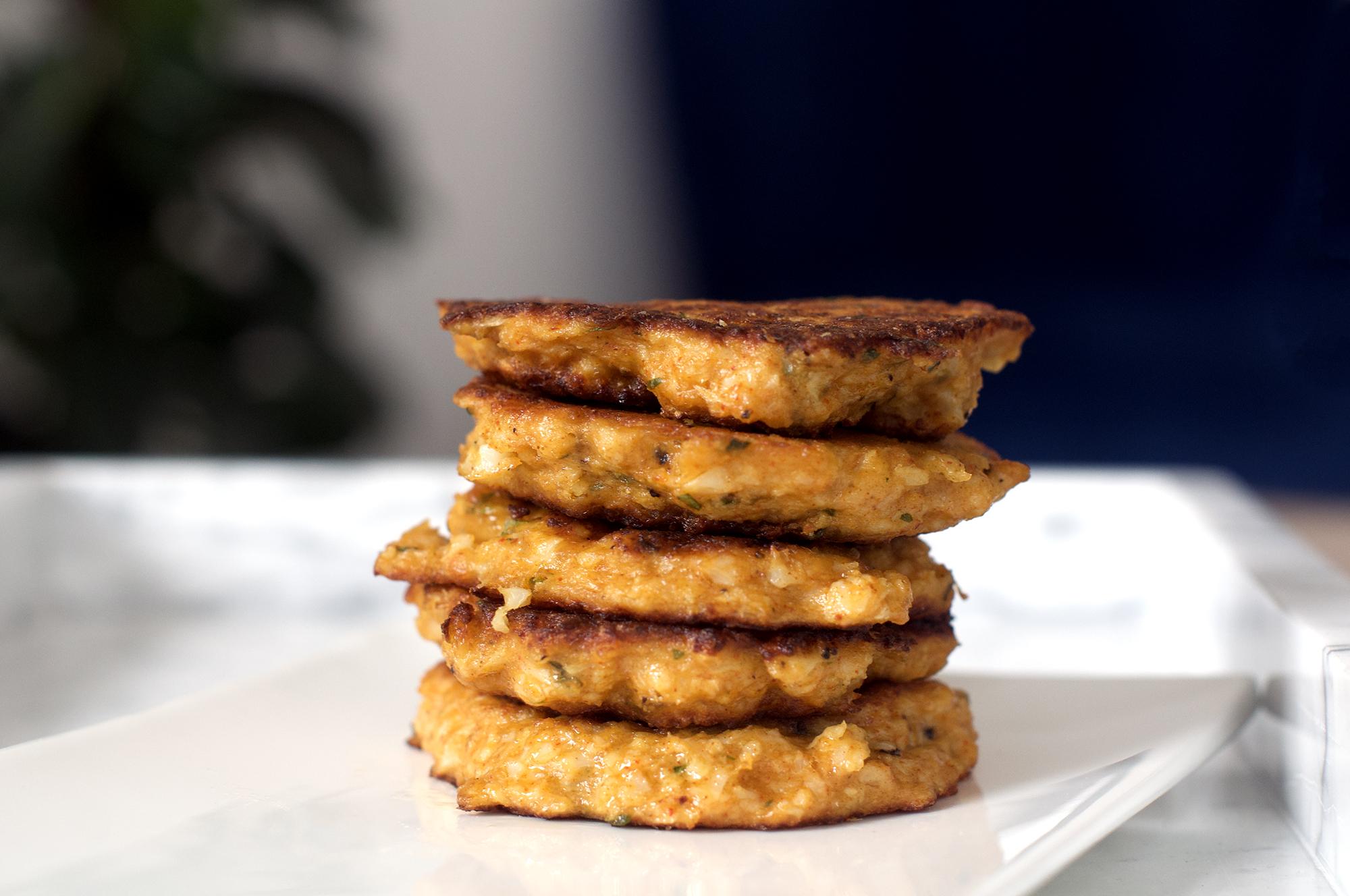 Recipe for vegetarian cauliflower fritters