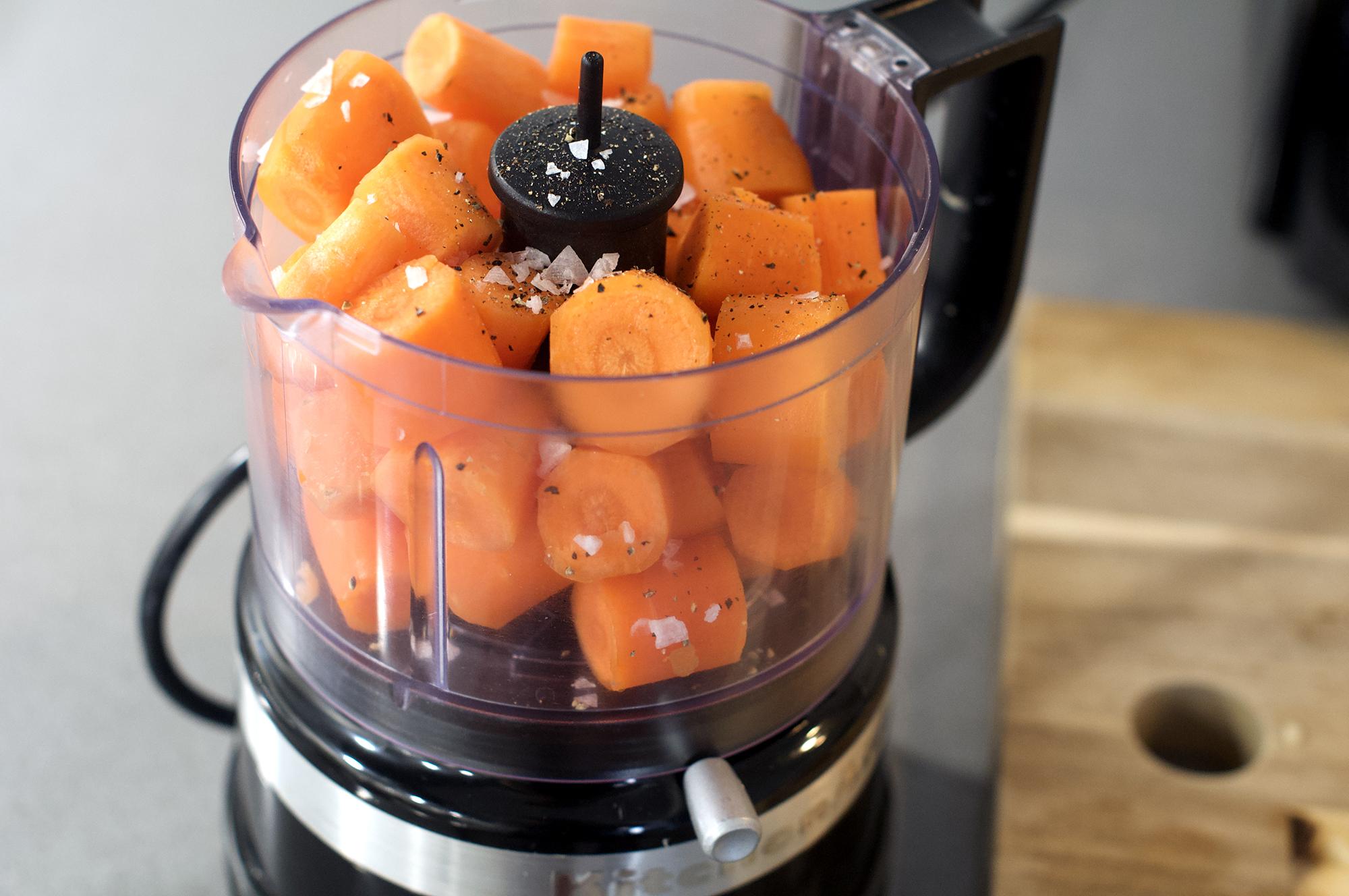 Carrots in KitchenAid Mini Chopper Food Processor