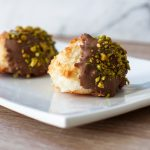 Recipe for Coconut Macaroons with Chocolate and Pistachio