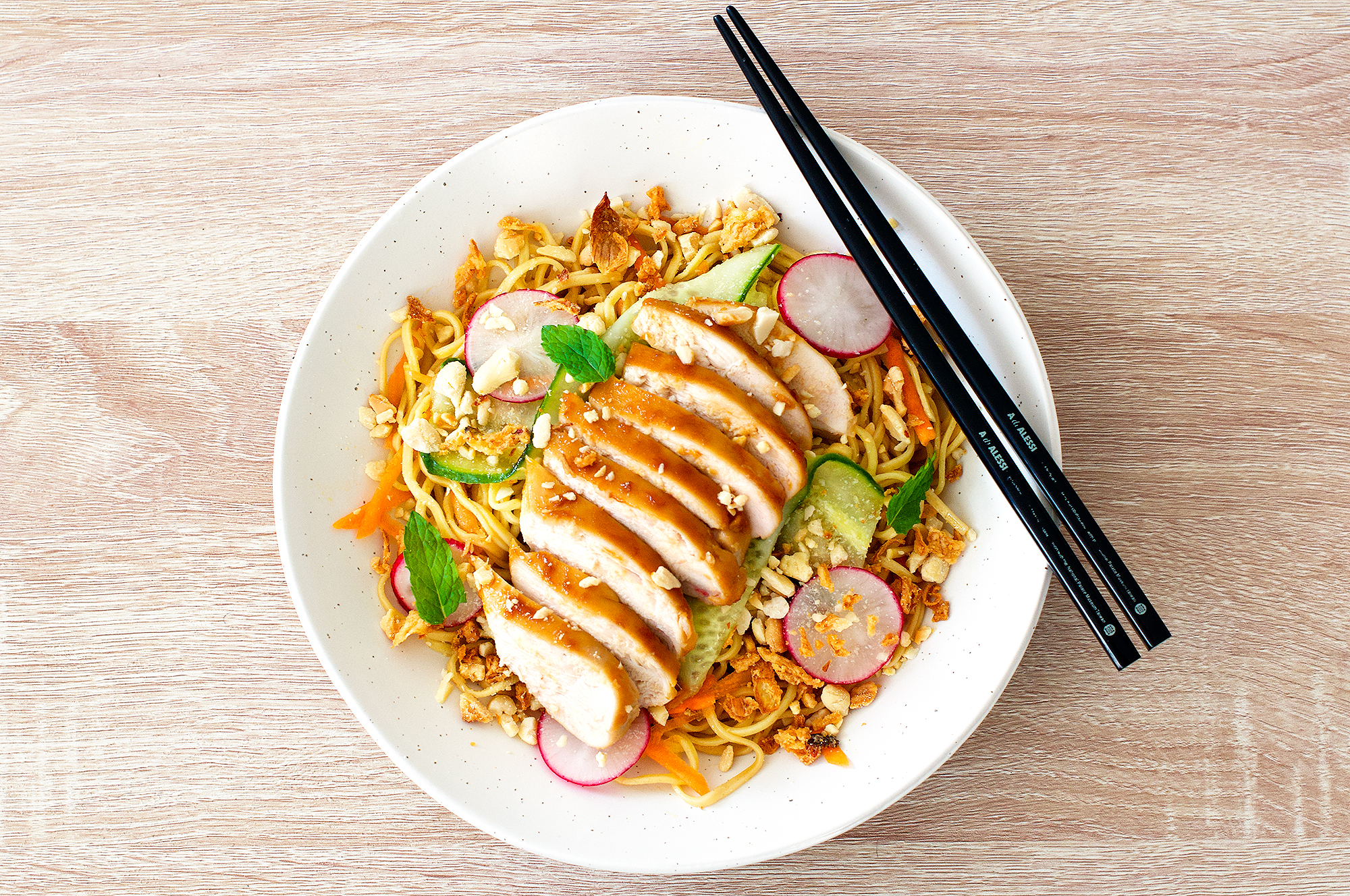 Recipe for chicken teriyaki noodle salad