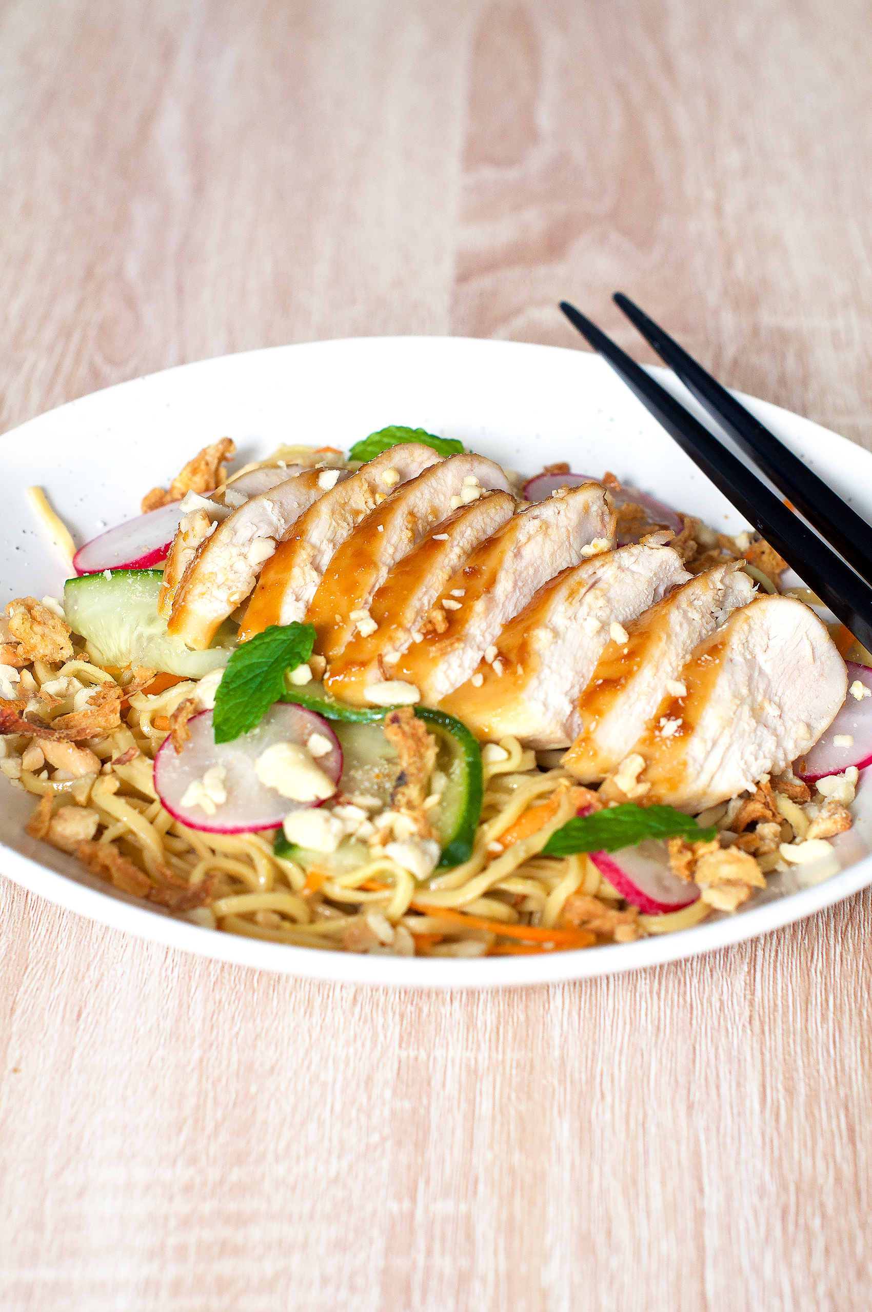 Recipe for chicken teriyaki noodle salad