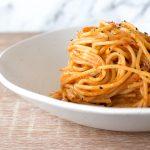 Recipe for tomato and pepper red pesto pasta