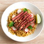 Beef and lime noodle salad recipe