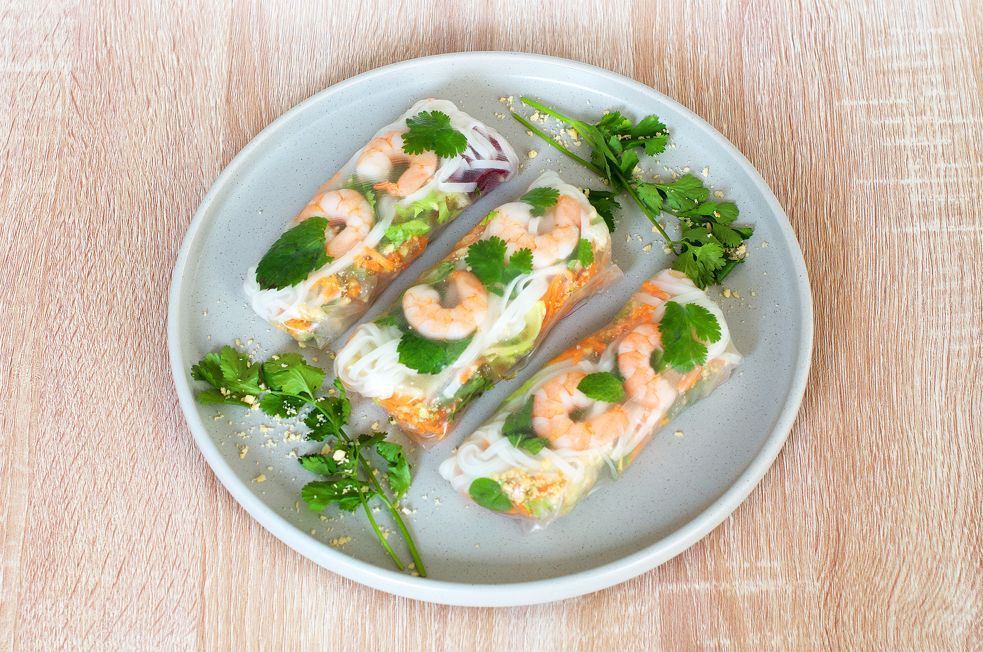 Prawn summer rolls recipe